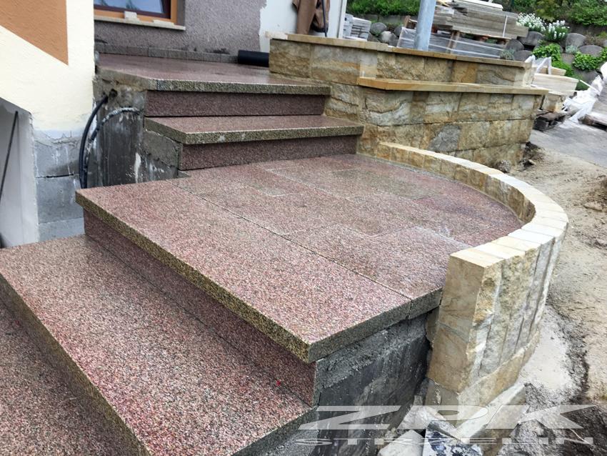 płyty granitowe płomieniowane