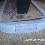 krawężniki granitowe szare płomieniowane 15x25 cm proste i łukowe