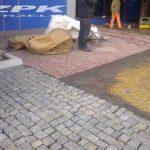 kostka granitowa czerwona Vanga 4/6 cm, kostka kamienna czarna SZWED Bodafors 8/11 cm